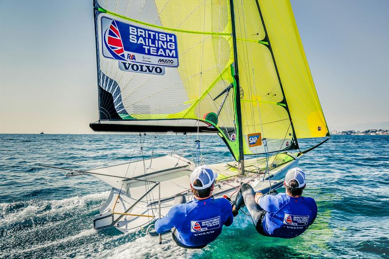 Dylan Fletcher and Stu Bithell in their 49er - photo © British Sailing Team