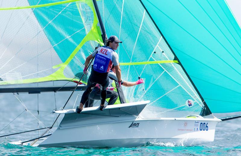 Josh Porebski and Trent Rippey (NZL) 49er - 2018 Hempel Sailing World Championships, Aarhus, Denmark - photo © Sailing Energy