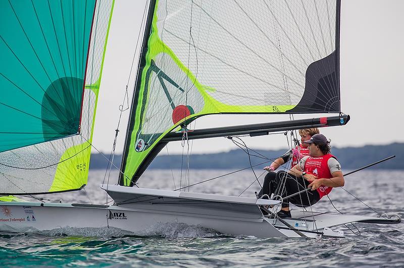 Josh Porebski / Trent Rippey (NZL) - 49er - Hempel Sailing World Championships - Day 5 - Aarhus, Denmark - photo © Sailing Energy / World Sailing