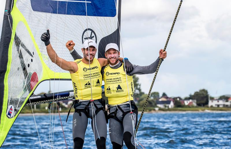 Sime Fantela / Mihovil Fantela (CRO) - 49er - Day 10 - Hempel Sailing World Championships, Aarhus, Denmark, August 2018 - photo © Sailing Energy / World Sailing