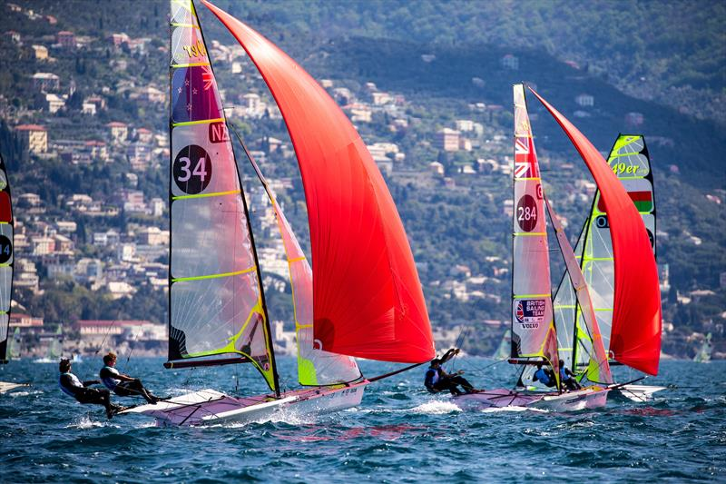 Josh Porebski and Trent Rippey - 49er - NZL Sailing Team - 2019 Hempel World Cup Series, Genoa, April 2019 photo copyright Sailing Energy taken at Yacht Club Italiano and featuring the 49er class