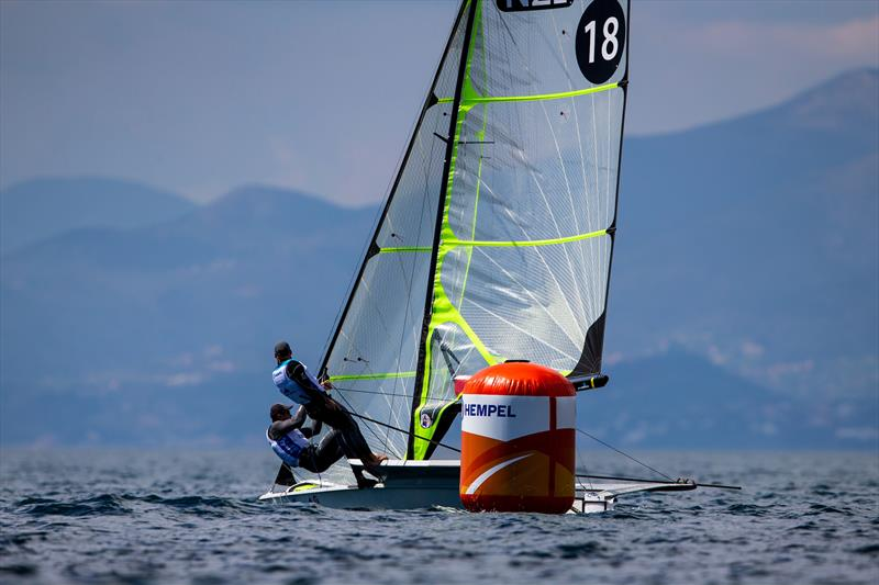 Isaac McHardie and William McHardie - 49er- NZL Sailing Team - 2019 Hempel World Cup Series, Genoa, April 2019 photo copyright Sailing Energy taken at Yacht Club Italiano and featuring the 49er class