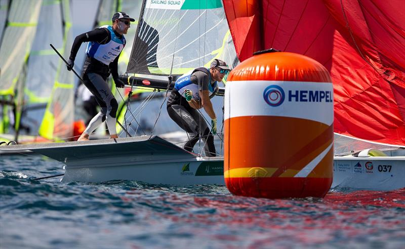 The Phillips brothers sailing in the 49er Gold fleet - Genoa World Cup Series 2019 - photo © Sailing Energy