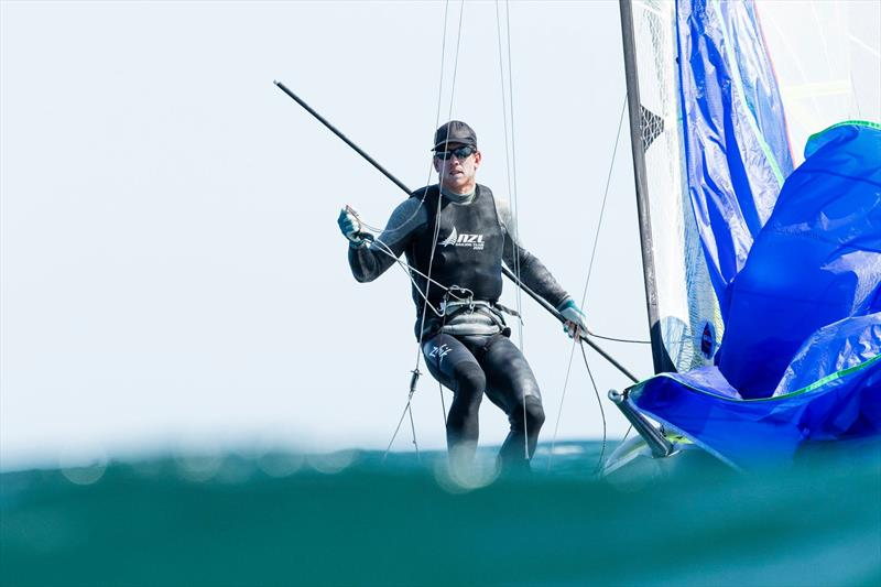 Peter Burling (NZL)- Day 1,  2019 Volvo 49er European Championships, Weymouth, UK - May 13, 2019 - photo © Mark Lloyd / Lloyd Images