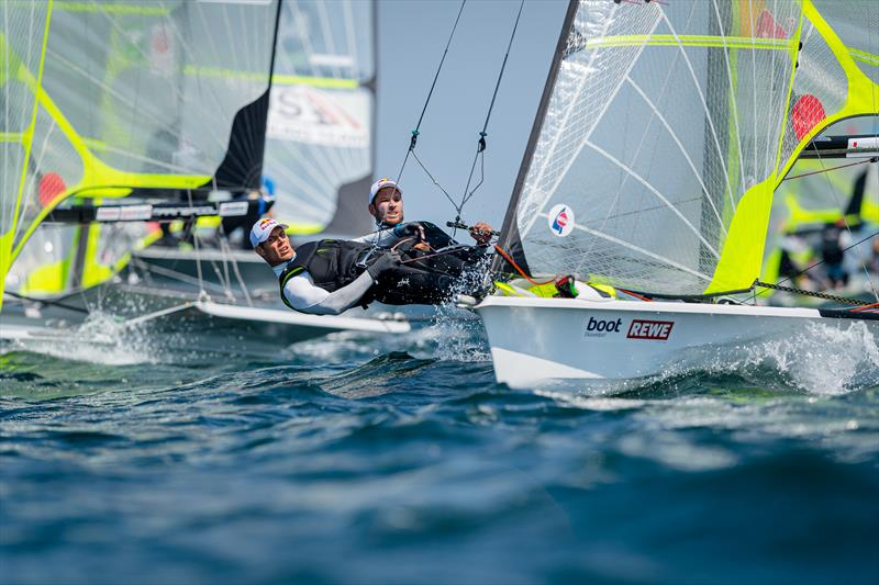 The Croatians Sime and Mihovil Fanlela are the reigning world champions of the 49er class - at Kiel Week part 2 - photo © Kiel Week / Sascha Klahn