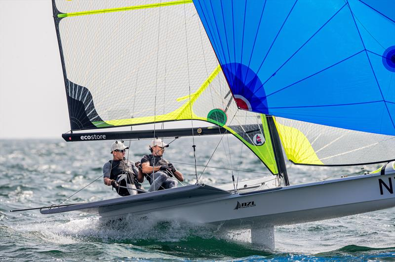 Peter Burling and Blair Tuke (NZL) 49er - Day 4, Olympic Test Event, Enoshima, Japan, August 2019 - photo © Jesus Renedo / Sailing Energy / World Sailing