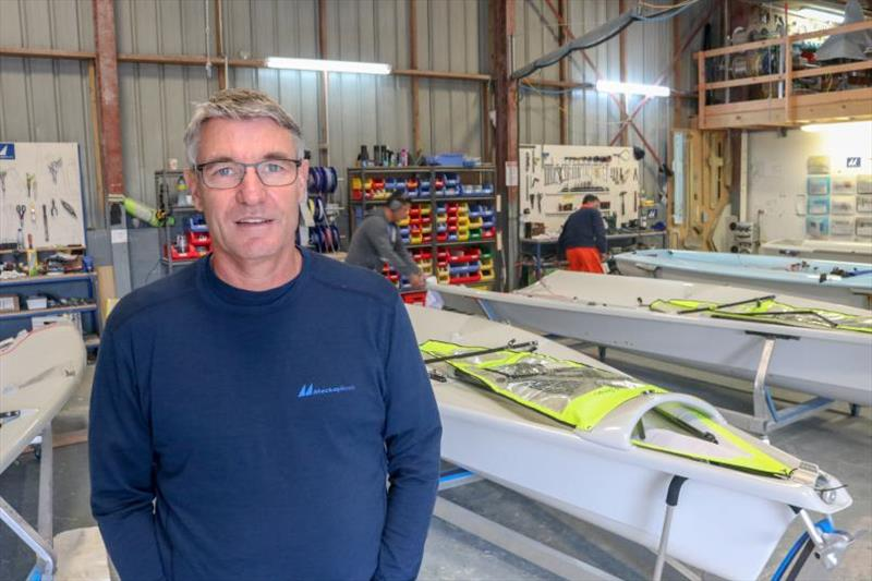 John Clinton and Mackay Boats are building 40 boats for this year's 49er, 49erFX and Nacra 17 world championships - photo © Yachting New Zealand