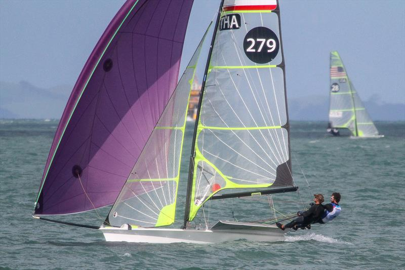 Thailand 49er training on the Waitemata Harbour ahead of the 2019 World Championships. The 49er, 49erFX and Nacra 17 World Championships get underway in four weeks. - photo © Richard Gladwell