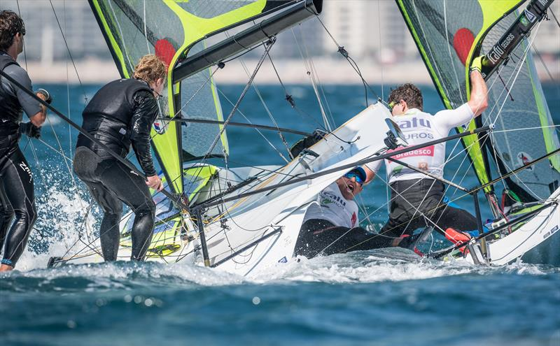 The spectacular two person skiffs will be broadcast live from the 2019 Hyundai World Championships - 49er, 49erFX and Nacra 17 Worlds, Porto (POR) - Day 4 - photo © Ricardo Pinto