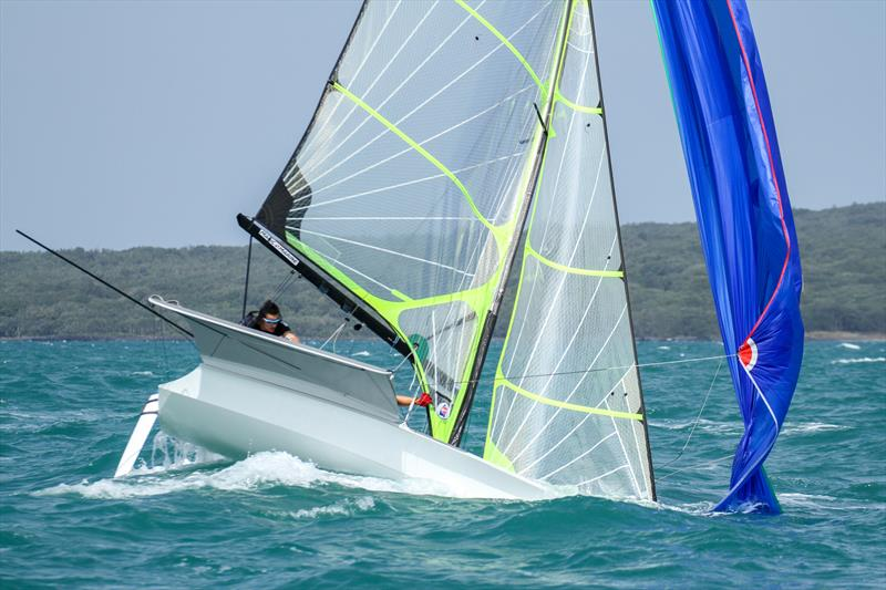 Tom Fyfe, James Wilson (NZL) 49er - Hyundai Worlds - Day 2 , December 4, 2019 , Auckland NZ photo copyright Richard Gladwell / Sail-World.com taken at Royal Akarana Yacht Club and featuring the 49er class