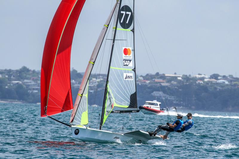Peter Burling and Blair Tuke - 49er - Hyundai Worlds - Day 3 , December 5, , Auckland NZ - photo © Richard Gladwell