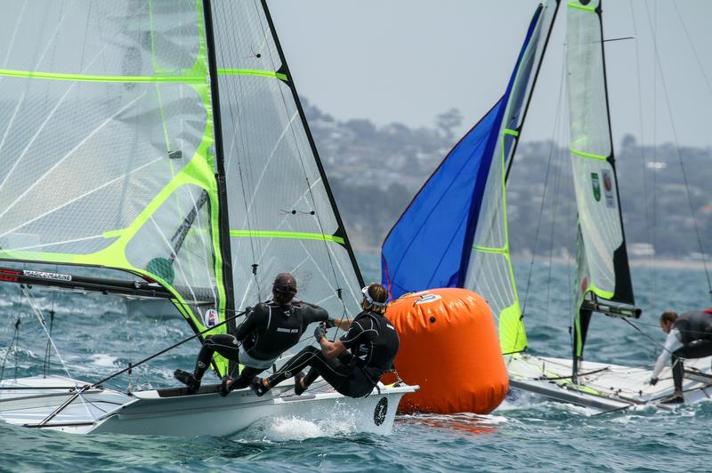 Logan Dunning Beck & Oscar Gunn (NZL) - 49er - Hyundai Worlds - Day 4 , December 6, , Auckland NZ - photo © Richard Gladwell / Sail-World.com