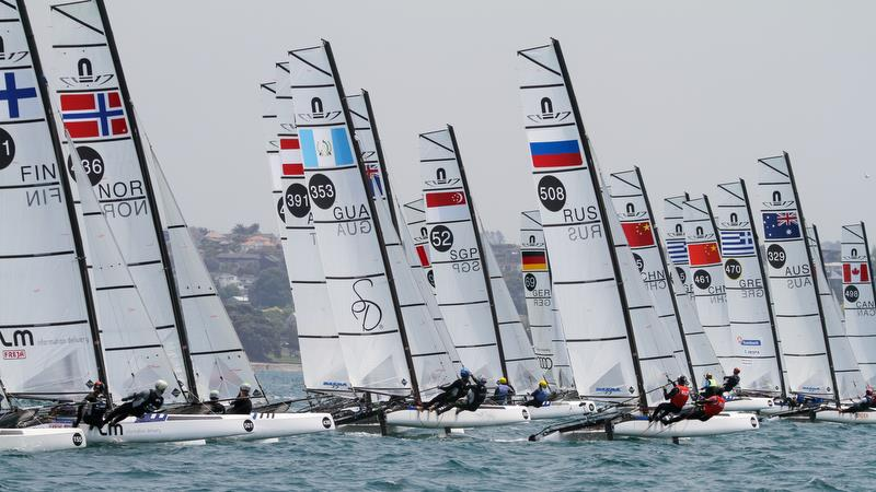 Nacra 17 - Hyundai Worlds - Day 4, December 6, 2019, Auckland NZ - photo © Richard Gladwell / Sail-World.com