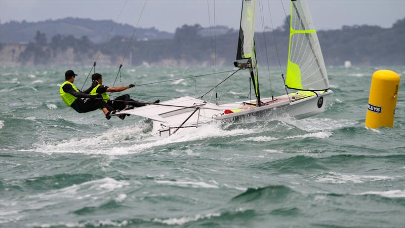 Peter Burling and Blair Tuke - 49er - 49er Worlds, - Day 6 - Auckland, December 3-8, - photo © Richard Gladwell / Sail-World.com