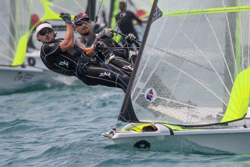 Logan Dunning Beck & Oscar Gunn (NZL) - 49er - 5th place Hyundai Worlds - Day 4 , December 6, 2019 , Auckland NZ - photo © Richard Gladwell / Sail-World.com\
