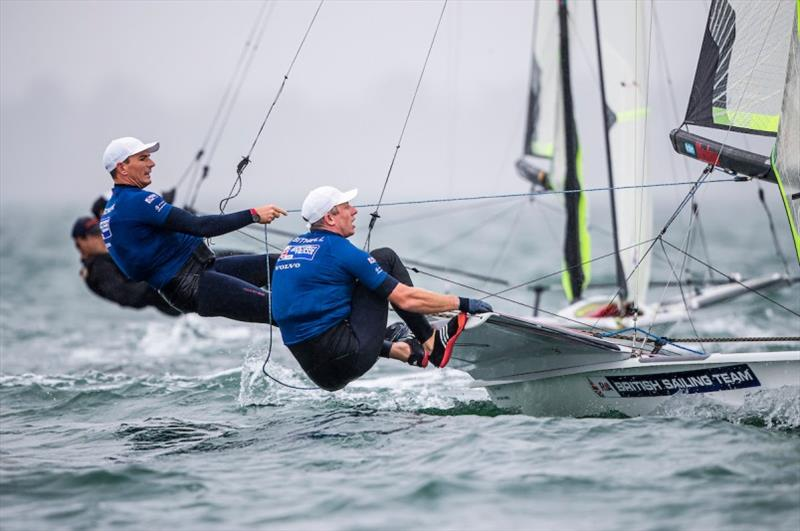 Dylan Fletcher-Scott and Stuart Bithell (GBR) - 2020 49er, 49er FX & Nacra 17 World Championship, day 2 - photo © Jesus Renedo / Sailing Energy / World Sailing