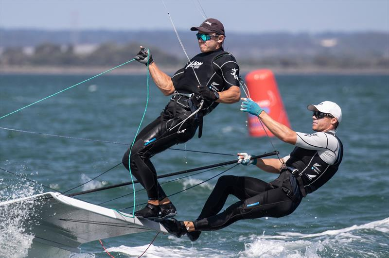 Isaac McHardie and William McKenzie - 49er - Day 4 - 2020 World Championships - Royal Geelong Yacht Club - February 2020 - photo © Bill Phillips