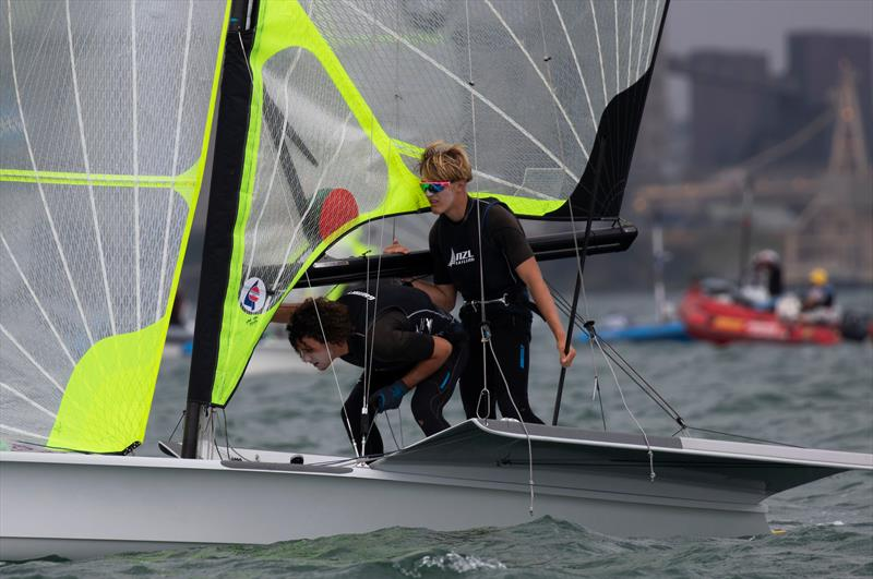Sam Bacon and Henry Gautrey - 49er - Day 4 - 2020 World Championships - Royal Geelong Yacht Club - February 2020 - photo © Bill Phillips