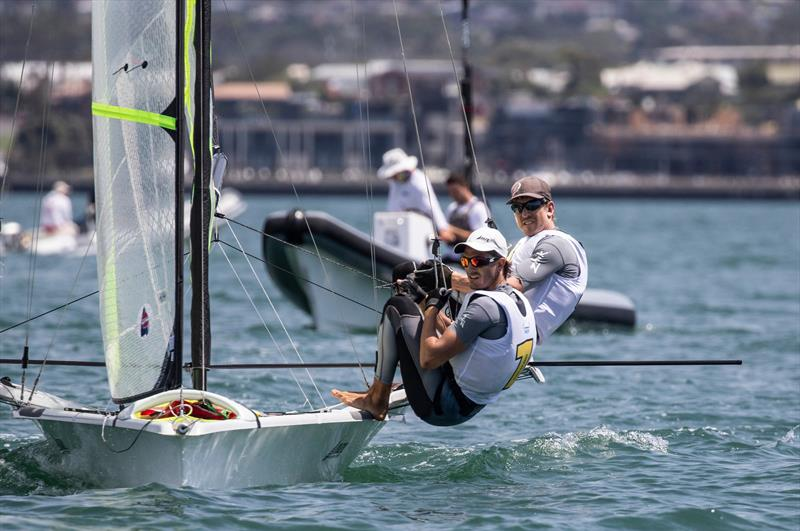 Peter Burling and Blair Tuke - 49er - Day 4 - 2020 World Championships - Royal Geelong Yacht Club - February 2020 - photo © Bill Phillips
