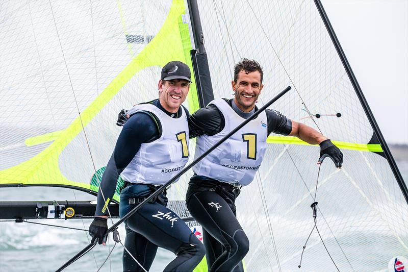 Peter Burling and Blair Tuke - 49er - Day 6 - 2020 World Championships - Royal Geelong Yacht Club - February 2020 - photo © Jesus Renedo / Sailing Energy / World Sailing