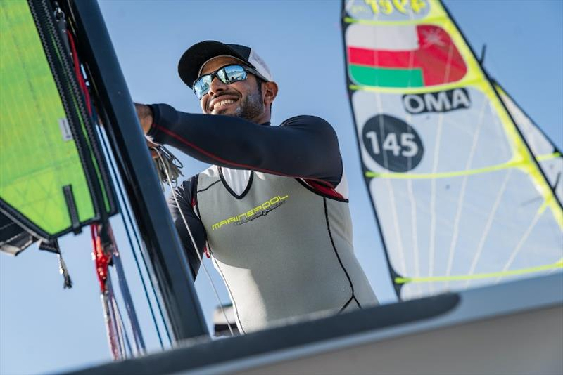 Oman's Olympic hopeful at 2020 World 49er Championship - photo © Oman Sail