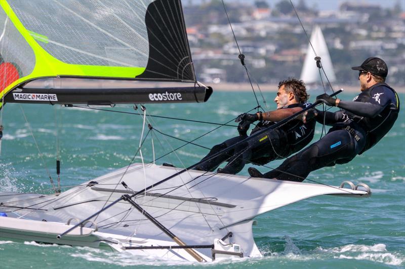 Peter Burling and Blair Tuke - 49er - Hyundai World Championships, Oceania Championship, Day 1, November 25, 2019, Royal Akarana Yacht Club. - photo © Richard Gladwell / Sail-World.com