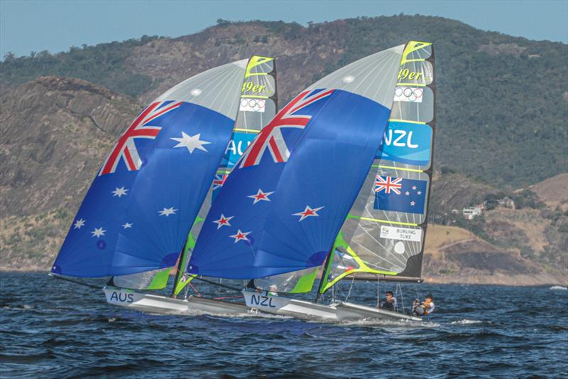 49er Rio Olympics - Burling and Tuke (NZL) with Outteridge and Jensen (AUS) - NZSailGP team will come up against several old rivals in SailGP - photo © Richard Gladwell / Sail-World.com
