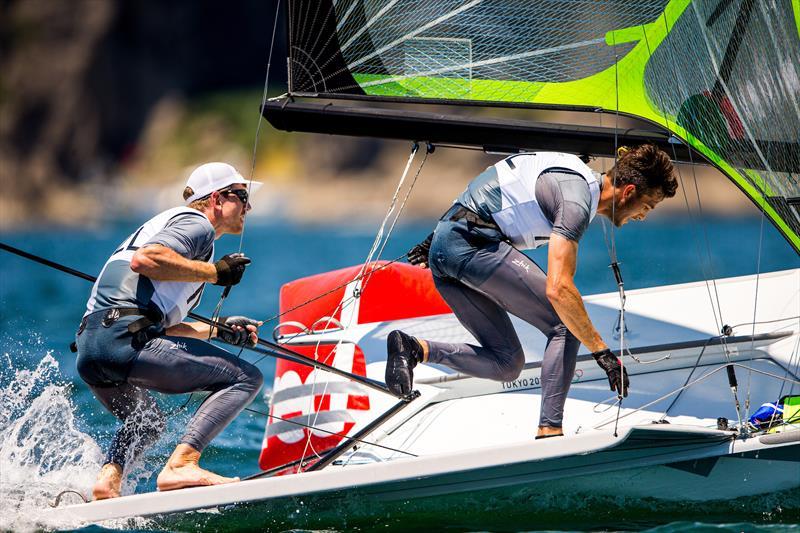 Peter Burling and Blair Tuke practicing off Enoshima ahead of Tokyo2020 Olympic Regatta - photo © Sailing Energy