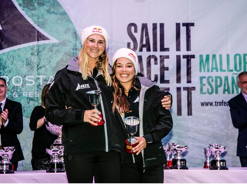 Molly Meech and Alex Maloney - 49erFX - Medal ceremony - 49th Trofeo Princesa Sofia Iberostar, April 7, 2018 - photo © Jesus Renedo / Sailing Energy / Trofeo Princesa Sofia IBEROSTAR