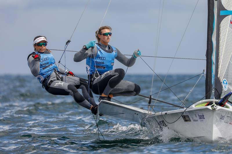 Molly Meech and Alex Maloney - 49erFX - Day 2, Kieler Woche 2018 - photo © Christian Beeck