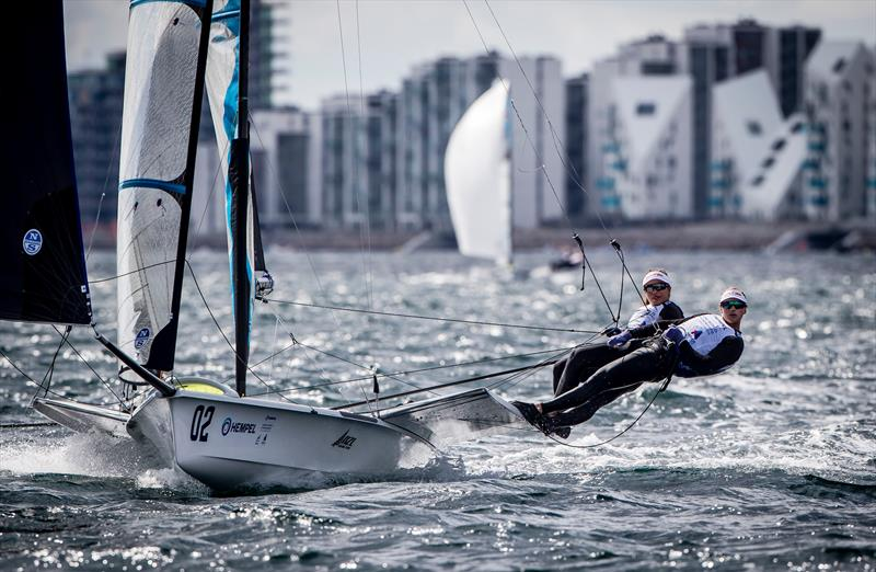Alex Maloney and Molly Meech (NZL) 49er FX - 2018 Hempel Sailing World Championships, Aarhus, Denmark - photo © Sailing Energy