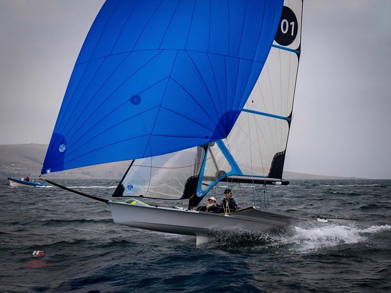 49erFX winners John Cooley and Simon Murnaghan - 2019 Zhik 9er Australian Championship - photo © Hartas Productions