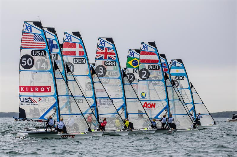 49erFX fleet - 2019 Hempel World Cup Series Miami - Day 2 - photo © Jesus Renedo / Sailing Energy / World Sailing