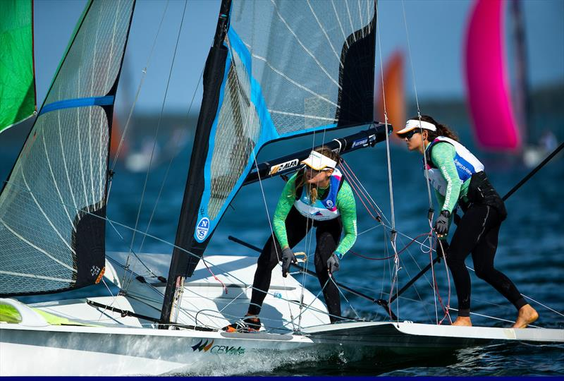 49erFX fleet medal race at the 2019 Hempel World Cup Series Miami - photo © Jesus Renedo / Sailing Energy / World Sailing