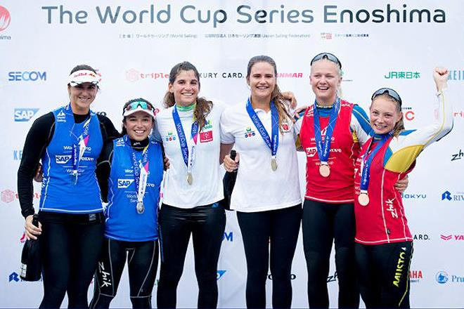 Podium - World Cup Series - Enoshima - photo © Sailing Energy / World Sailing