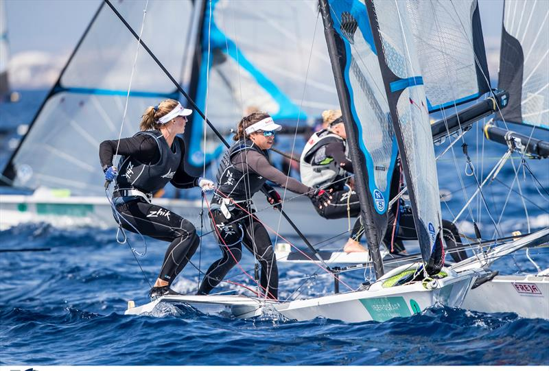 Alex Maloney and Molly Meech - NZL Sailing Team - Trofeo Princesa Sofia Iberostar - Day 2 - April 2, 2019 - photo © Sailing Energy