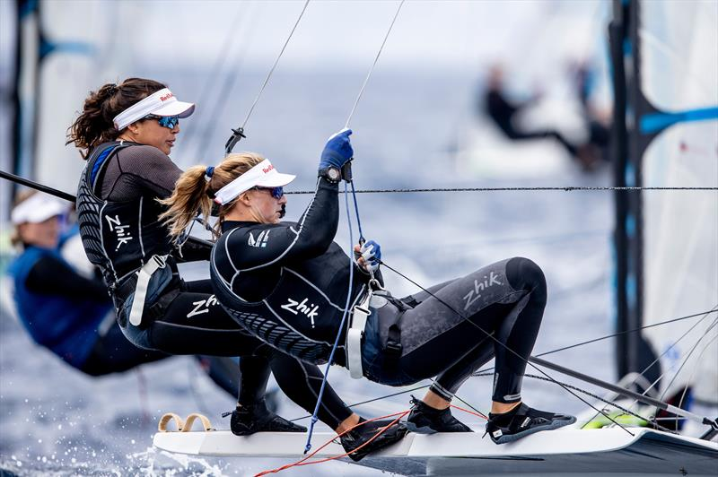 Alex Maloney and Molly Meech - 49erFX - NZL Sailing Team - Trofeo Princesa Sofia Iberostar - Day 3 - April 3, 2019 - photo © Sailing Energy