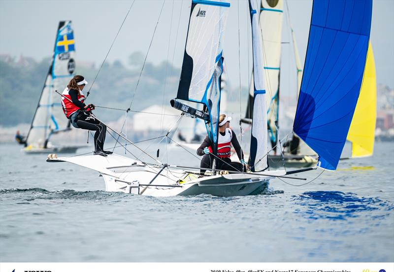 Alex Maloney and Molly Meech - NZL - Day 5 - European 49erFX Championships - Weymouth - May 2019 - photo © Drew Malcolm