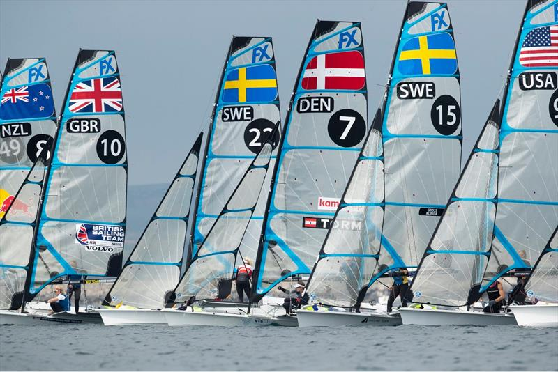 Start - Day 7 - European 49er FX Championships  - Weymouth, May 19,  2019 - photo © Lloyd Images