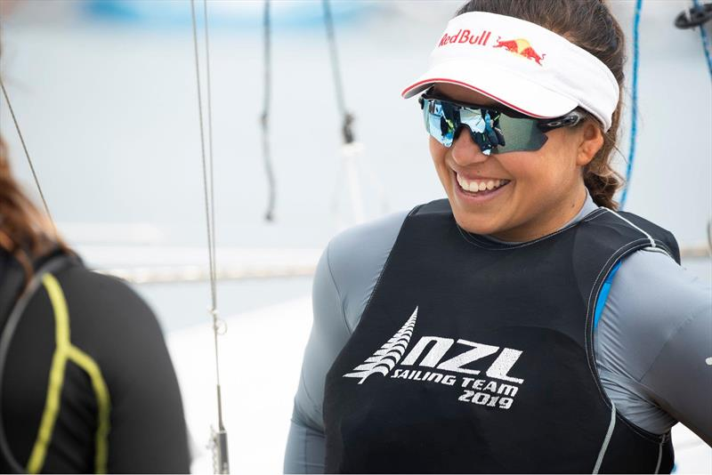 Alex Maloney- NZL - Day 7 - European 49er FX Championships  - Weymouth, May 19,  2019 - photo © Lloyd Images
