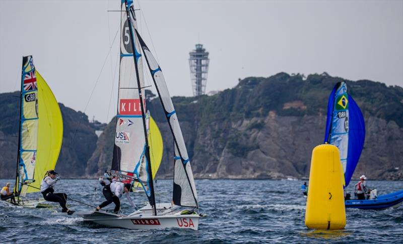 Women's 49erFX – Stephanie Roble and Maggie Shea - Ready Steady Tokyo, day 5 - photo © Jesus Renedo / Sailing Energy / World Sailing