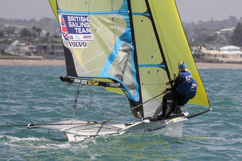 49er FX - Hyundai World Championships, Oceania Championship, Day 2, November 26, 2019 , Royal Akarana Yacht Club. - photo © Richard Gladwell / Sail-World.com