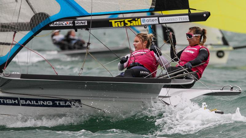Charlotte Dobsob and Saskia Tidey (GBR) winners of the Medal Race - 49er FX - Hyunsai Worlds - December 2019 - photo © Richard Gladwell / Sail-World.com