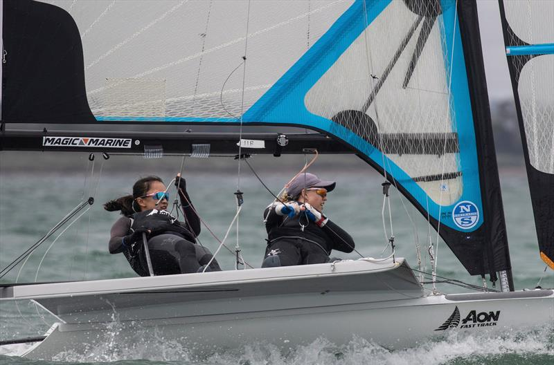 Crystal Sun and Olivia Hobbs (NZL)  - 49erFX - Day 3 - 2020 World Championships - Royal Geelong Yacht Club - February 2020 - photo © Bill Phillips