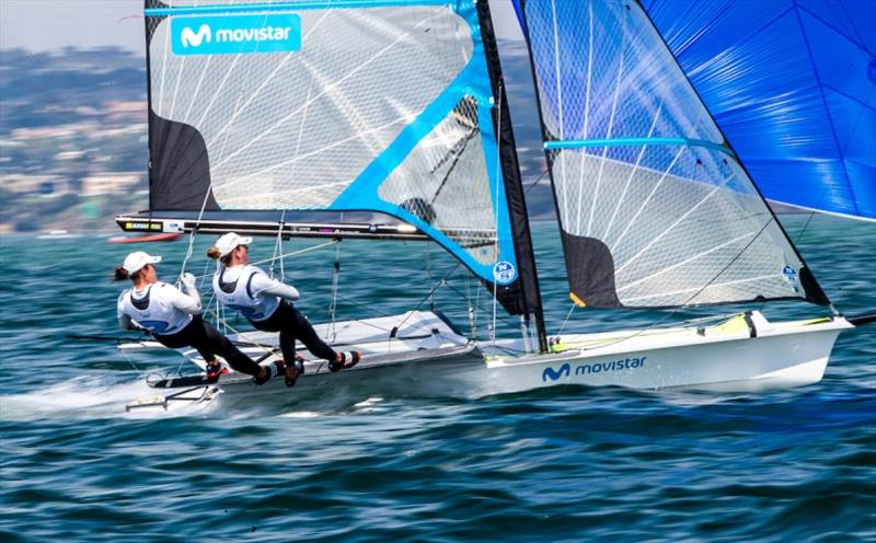 Tamara Echegoyen and Paula Barcelo - 2020 49er, 49er FX & Nacra 17 World Championship, day 4 - photo © Jesus Renedo / Sailing Energy