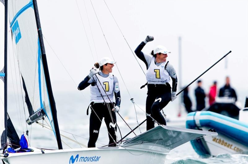 Tamara Echegoyen and Paula Barcelo - 49er, 49er FX & Nacra 17 World Championship 2020, final day - photo © Pedro Martinez / Sailing Energy