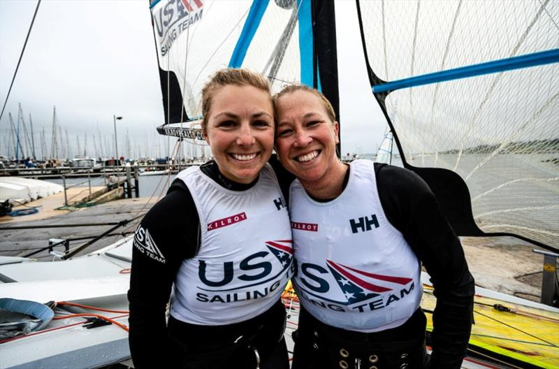 Stephanie Roble and Maggie Shea, 49erFX World Championship Bronze Medalists and Tokyo 2020 U.S. Olympic Sailing Team athletes - photo © Drew Malcolm