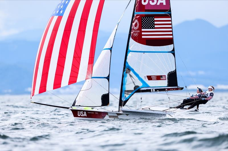 Stephanie Roble and Maggie Shea (USA) on Tokyo 2020 Olympic Sailing Competition Day 3 - photo © Sailing Energy / World Sailing