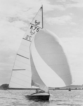 Austin Farrar did much to introduce advanced spinnaker shapes to the UK, many of which he trialled on his 505 - photo © Farrar / Chivers Collection