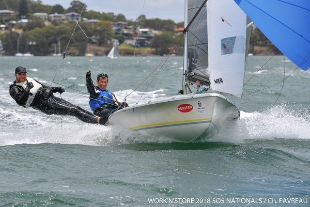 Work'N'Store / Ronstan 505 Australian Championship photo copyright Work'N'Store 2018 505 Nationals / Christophe Favreau taken at Wangi RSL Amateur Sailing Club and featuring the 505 class